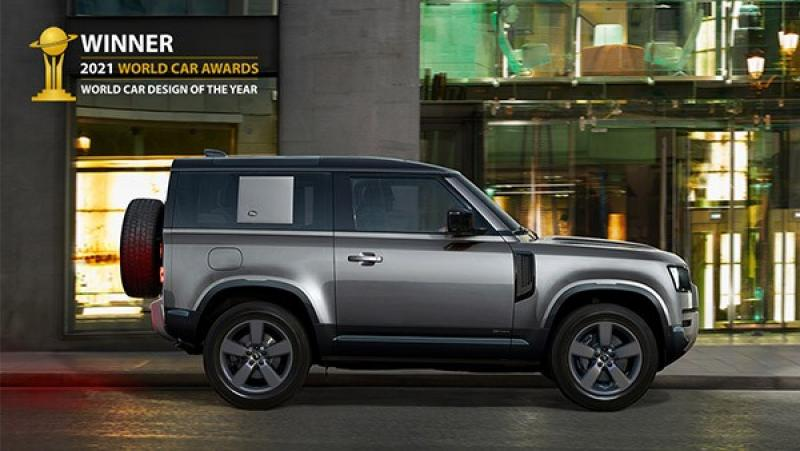Land Rover Defender bekroond tot 2021 World Car Design of the Year