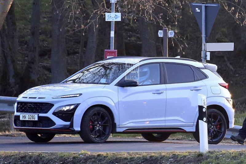 Hyundai Kona N gespot zonder camouflage
