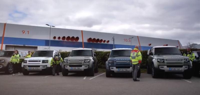 Land Rovers worden ingezet tijdens coronacrisis